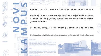 Izložba natječajnih radova - Novi Kampus